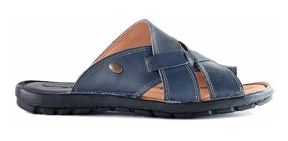 Sandalia Chinela Ojota Hombre Cuero Zapato Confort Hcch00923