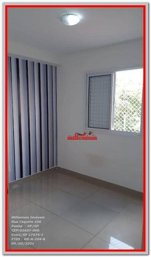 Apartamento Com 2 Dormitórios Para Alugar, 46 M² Por R$ 1.000,00/mês - Jardim São Francisco (zona Leste) - São Paulo/sp - Ap0110