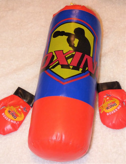 Saco 43 Cm + Guantes Boxeo Infantil