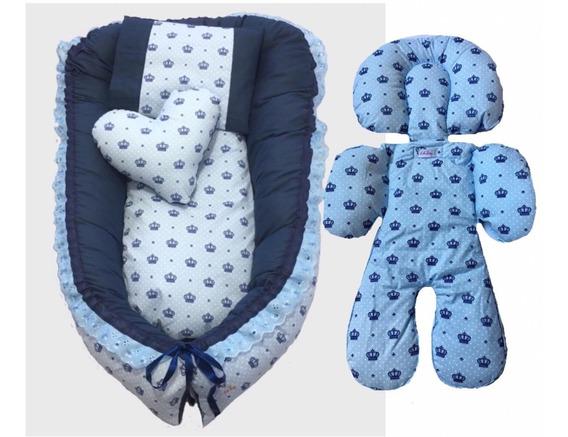 Ninho Redutor De Berço+ajuste Bebê Conforto Varias Estampas