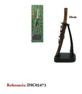 Espada Samurai Katana Pequena Vermelha Decoração Oriental