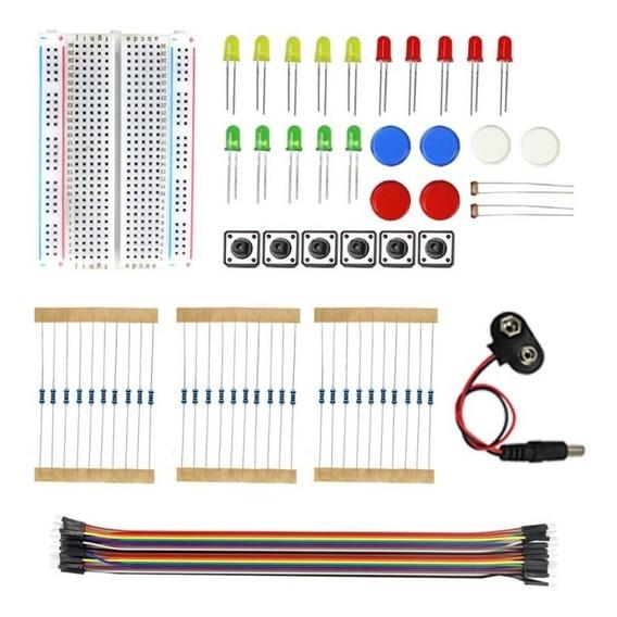 Kit Iniciante Para Arduino E Eletrônica 80 Peças Protoboard