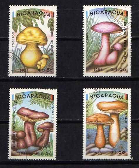 Numismza . Nicaragua, Serie Hongos 4 Val Mnt ( A 784) Oferta