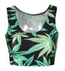 Vestidos, Leggin, Saias, Regata, Tops Ou Body Reggae Folhas