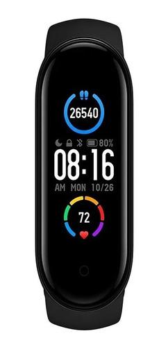 Imagen 1 de 10 de Smartwatch Xiaomi Mi Band 5 Bt 5.0 Versión Global Negro