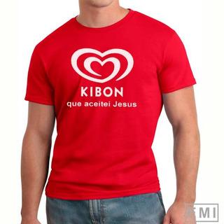 Camiseta Kibom Que Aceitei Jesus