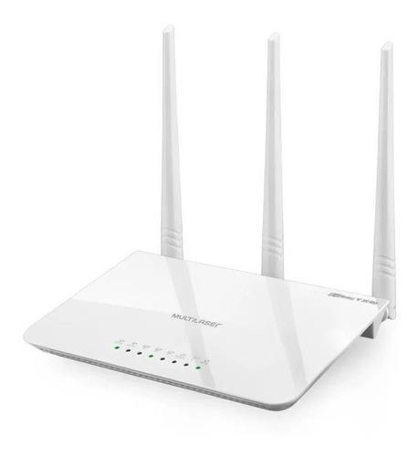 Imagem 1 de 5 de Roteador Wi-fi Multilaser 300mbps 3 Antenas Até 100m2