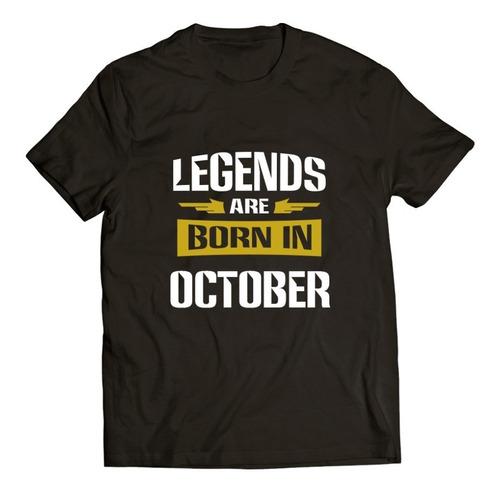 Imagen 1 de 4 de Legends Are Born / Playera Regalo / Cumpleaños