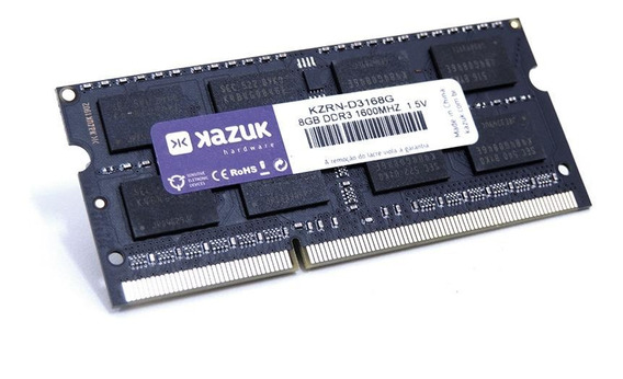 Memória RAM 8GB 1x8GB Kazuk KZRN-D3168G