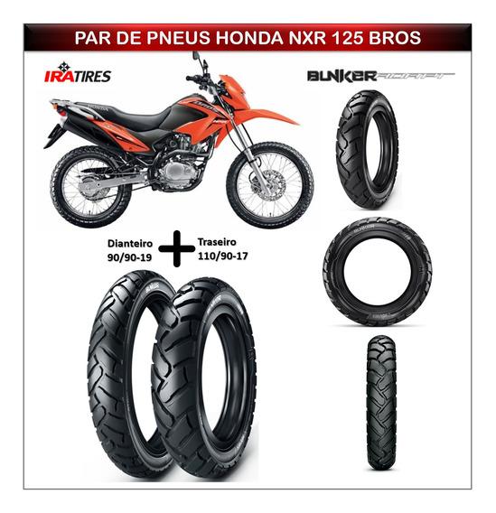 Pneu Dianteiro Honda Nxr 125 Bros+pneu Traseiro Todo Terreno