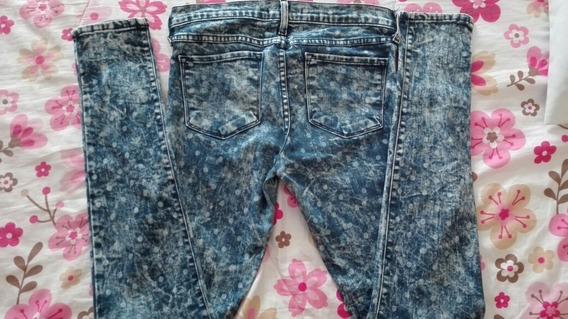 Jeans Skinny Deslavados, Mezclilla,no Zara,no Bershka