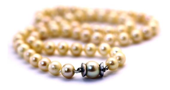 Colar De Perola C/ Fecho Ouro Branco 18k Presente Mãe J22561