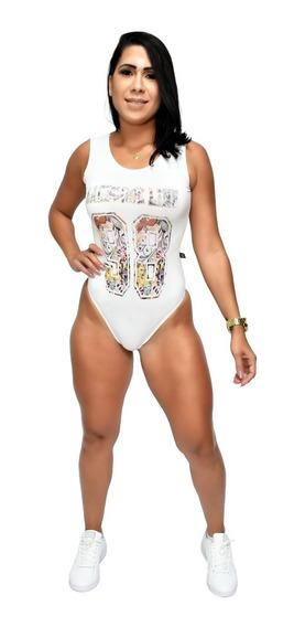 Body Feminino Costa Aberta Hardcore Line Superflex Branco