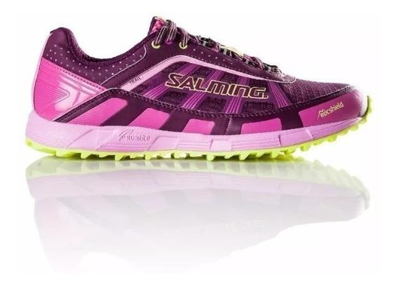 Zapatillas Running Mujer Importada Salming Trail T3 Violeta