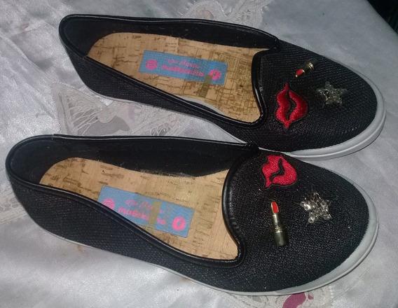 Zapato Guillermina Negro Detalle Talle 29