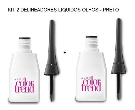 Kit 2 Avon Delineador Líquido Color Trend - Preto - 3 Ml