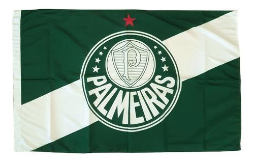 Bandeira Palmeiras Símbolo Verde E Branca Oficial Licenciada