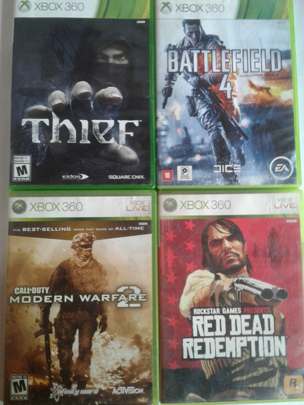 Kit 4 Jogos Originais Mídia Física Xbox 360