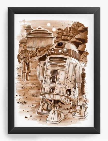 Quadro Decorativo Geekz Star Wars