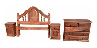 juegos de muebles de dormitorio macizo Juego Dormitorio Algarrobo Juegos De Dormitorio En Mercado