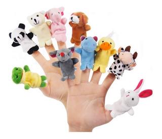 Titeres Dedo Dedos Mano Animales Tiernos 10pz Niños