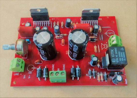 Kit 2 Placas Amplificador 200w Rms Tda7294 Sem Dissipador