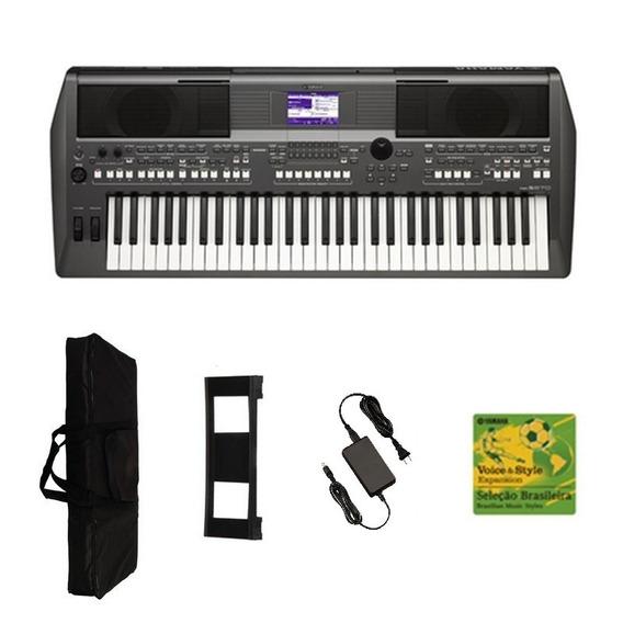 Teclado Musical Arranjador Yamaha Psr S670 + Fonte Bivolt