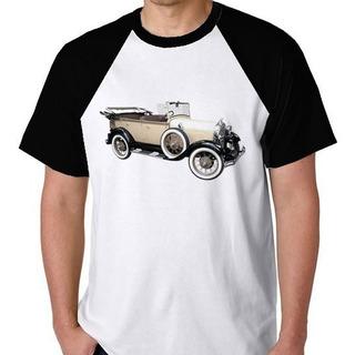Camiseta + Frete Raglan Blusa Camisa Carro Antigo T Ford
