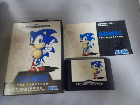 Sonic The Hedgehog Mega Drive Original Com Caixa E Manual