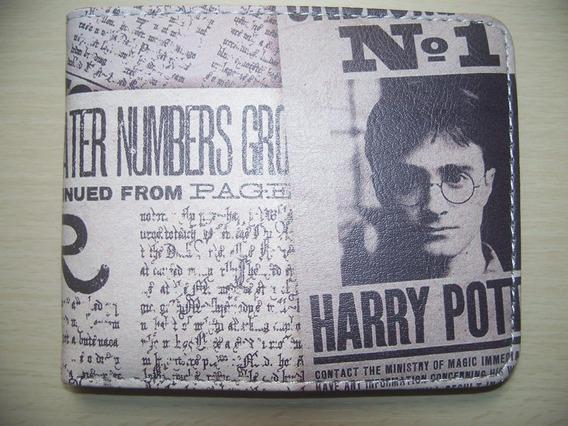 Cartera Billetera Harry Potter Diario El Profeta Biowold