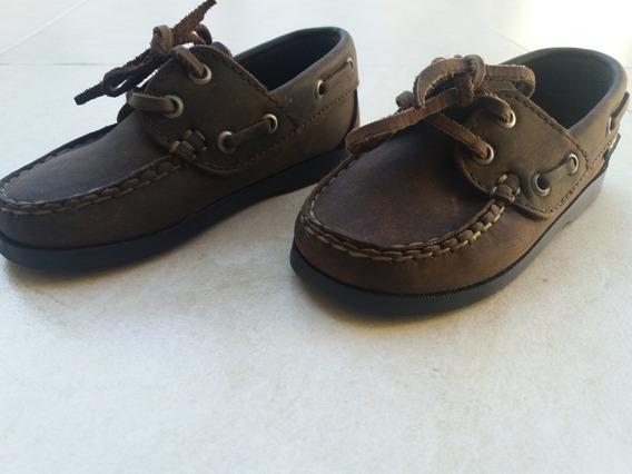 Zapatos Nauticos De Cuero Marrones