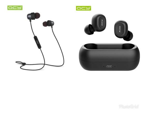 2 Fones De Ouvido Bluetooth Qcy Original Novo