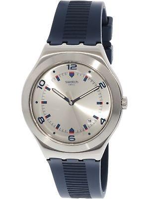 Caucho De Cuarzo Reloj Vestir Plateado Swatch Brut QCxBhrtsdo