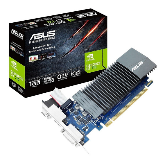 Placa De Video Asus Geforce Gt 710 Sl-1gd5-brk 1gb Gddr5 0db