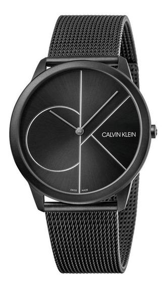 Relógio Masculino Calvin Klein Minimal Aço Preto K3m5t451