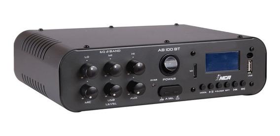 Amplificador Compacto Para Som Ambiente Nca Ab 100 Bt Mono