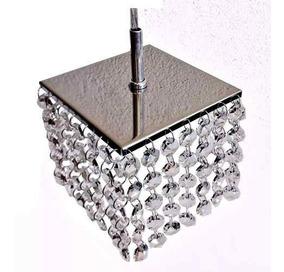 Lustre Mini Cristal Aço Inox Brinde Lâmpada Chaveirin