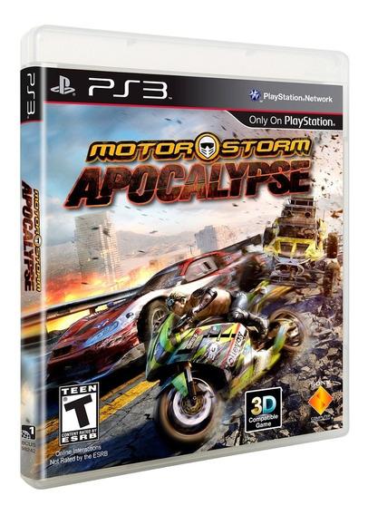 Motor Storm Apocalypse 3d Ps3 Mídia Física Envio 12,00