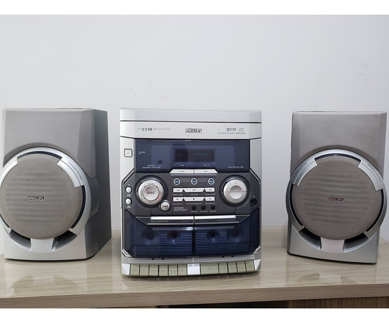 Mini System Philips Toca Cd 3 Radio Am Fm E Toca Fitas