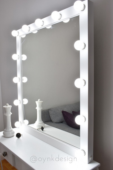 Espejo Hollywood Maquillaje 100x80 + Luces Led + Envíogratis