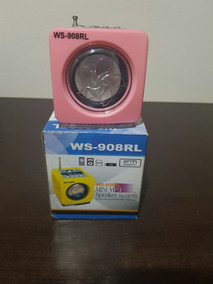 Caixa De Som Mini Mp3 Ws-908rl