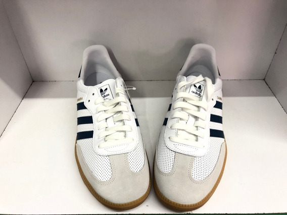 Tenis adidas Samba Og Blanco/azul No 8.0 Mx Originales
