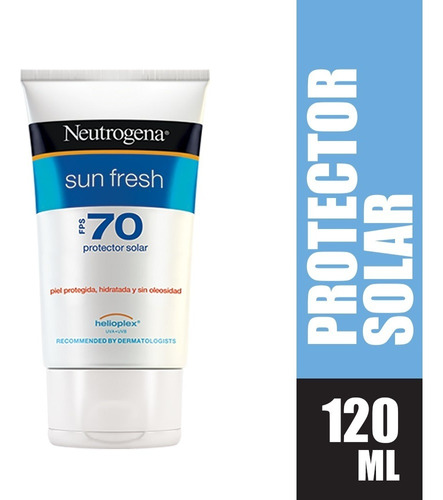 Protector Solar Neutrogena Sun Fresh Fps70 X 120ml