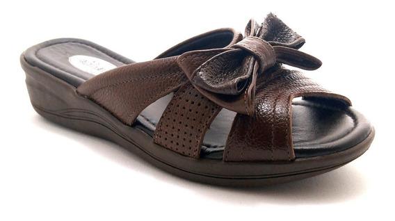 Calçado Tamanco Confort Confortável Couro Anatômico