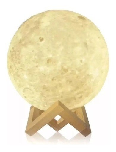 Bocina Lampara Tipo Luna Touch Bluetooth Decorativa