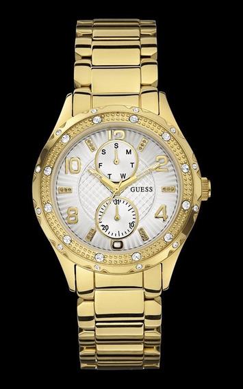 Relógio Guess Feminino Dourado Cristais 92531lpgsda1