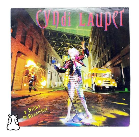 Lp Cyndi Lauper A Night To Remember Disco De Vinil Encarte