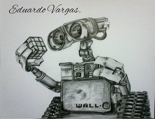 Dibujo Pelicula Wall-e Película De Disney Y Pixar A Grafito