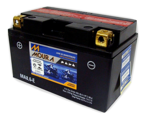 Bateria Ma8,6-e Hornet 600 Cb1000r  Mt-07 Mt-09 Cca 86 Ah