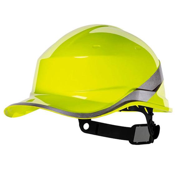 Capacete Com Aba Frontal Amarelo Fluorescente Delta Plus